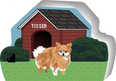 Pomeranian can be personalized with your dog's name