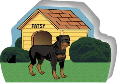 Rottweiler can be personalized with your dog's name