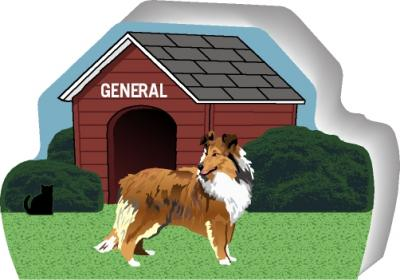 Sheltie can be personalized with your dog's name