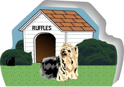 Yorkshire Terrier can be personalized with your dog's name