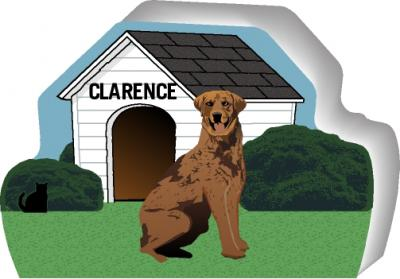 Chesapeake Bay Retriever can be personalized with your dog's name