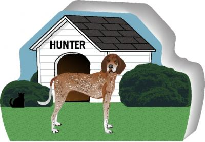 Redtick Coonhound can be personalized with your dog's name