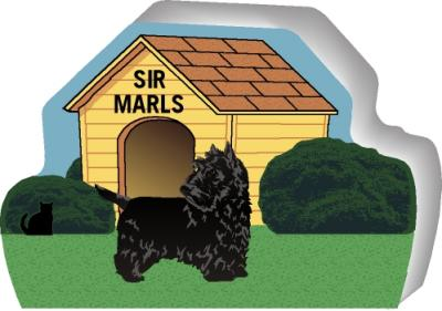 Scottish Terrier can be personalized with your dog's name
