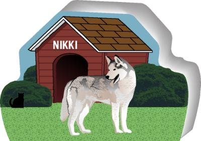 Siberian Husky can be personalized with your dog's name