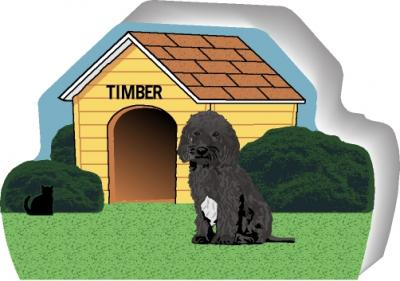 Personalize a cute little wooden dog house with your dogs name. By The Cat's Meow Village, handcrafted in USA.