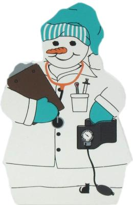 Nurse Snowman, blood pressure cuff, temperature