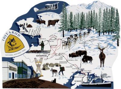Iditarod National Historic Trail, Alaska, dogsled relay, Nenana to Nome