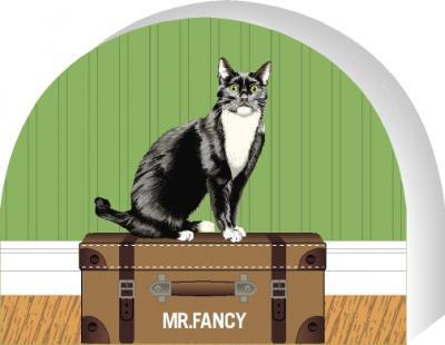 PURRsonalize Me! Tuxedo cat by the Cat's Meow Village