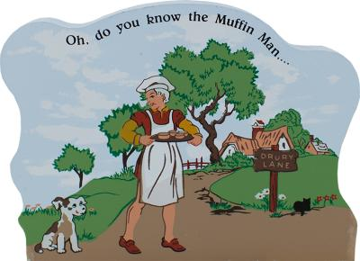 The Muffin Man, nursery rhymes, Mother Goose,