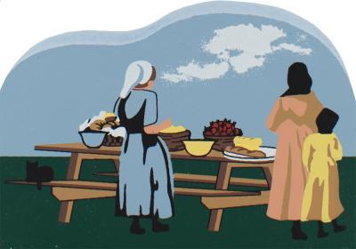 Picnic Time, Amish country Ohio, Amish, Amish picnic