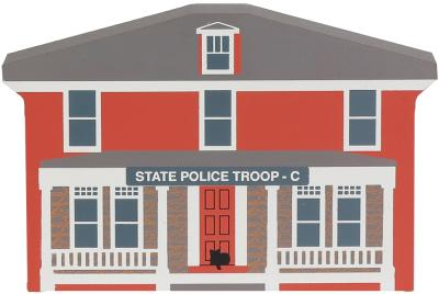 """Vintage Police/Troop C from Series XI handcrafted from 3/4"""" thick wood by The Cat's Meow Village in the USA"""