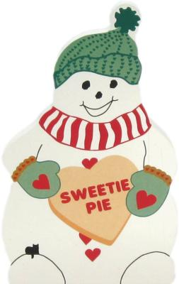 Cat's Meow Sweetie Pie Snowman can be personalized with your own 2 words.