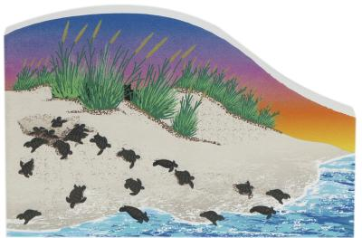"""Cat's Meow rendition of a sea turtle hatch or """"boil"""" during the evening hours along the U.S. coast."""