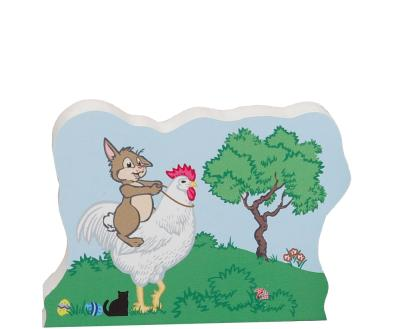 Add this charming Easter Bunny themed shelf sitter to your Easter decor. Handcrafted in USA by The Cat's Meow Village