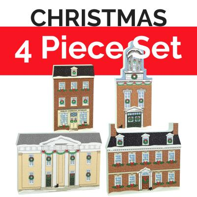 Buy this Historic Alexandria, Virginia Christmas Collection together as a set and save $2. Handcrafted in the USA by The Cat's Meow Village.