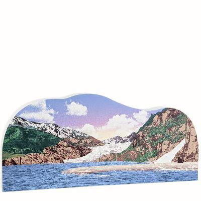 """Mendenhall Glacier, Tongass National Forest, Alaska. Handcrafted in the USA 3/4"""" thick wood by Cat's Meow Village."""