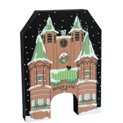 Add this North Pole Holly Lane Gate to your holiday decor this year. It's handcrafted by The Cat's Meow Village in Wooster, Ohio, just a sleigh ride from the North Pole. (we secretly work for Sants, shhhhhh)