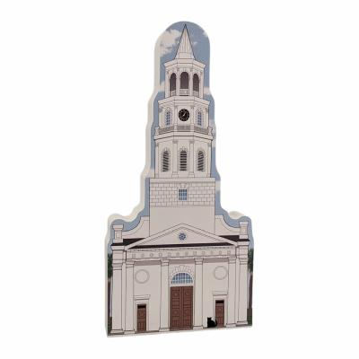 "Add this St. Michael's Episcopal Church to your home to remember your trip to Charleston, South Carolina. Handcrafted in 3/4"" wood by The Cat's Meow Village in Wooster, Ohio."