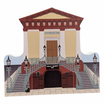"Replica of Market Hall and Confederate Museum in Charleston, South Carolina. Handcrafted in 3/4"" thick wood by The Cat's Meow Village in the USA."