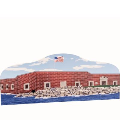 Fort Sumter National Monument in Charleston, South Carolina wooden souvenir handcrafted by The Cat's Meow Village in the USA.