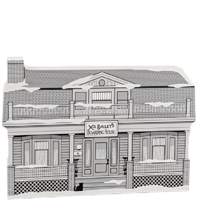 "Ma Bailey's Boarding House, It's A Wonderful Life. Handcrafted in the USA 3/4"" thick wood by Cat's Meow Village."