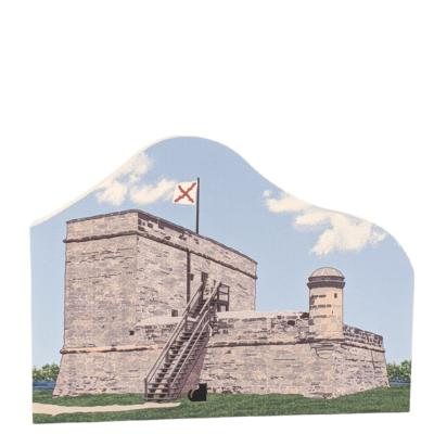 "St. Augustine, Fort Matanzas National Monument, Florida. Handcrafted in the USA 3/4"" thick wood by Cat's Meow Village."