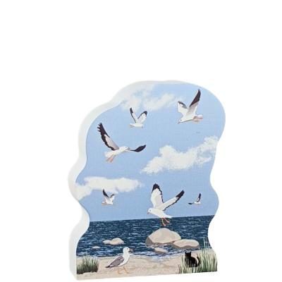 Seagulls are everywhere you find a coast!  Handcrafted in the USA by Cat's Meow Village.