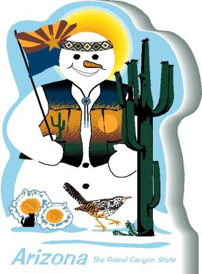 Arizona State Snowman handcrafted and made in the USA.