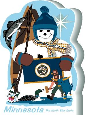 Minnesota State Snowman handcrafted and made in the USA.
