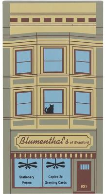 """Vintage Blumenthal's from Elm Street Series handcrafted from 3/4"""" thick wood by The Cat's Meow Village in the USA"""