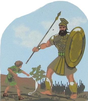 David & Goliath - I Samuel 17:1-57, Bible stories, King Saul, Jesus Son Of God