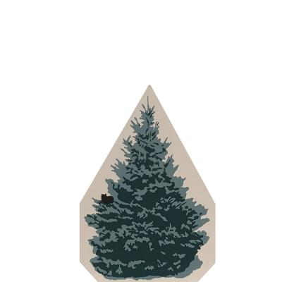 "Vintage Blue Spruce from Accessories handcrafted from 3/4"" thick wood by The Cat's Meow Village in the USA"