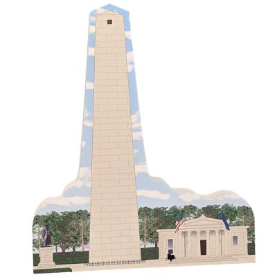 """Bunker Hill Monument National Park, Charlestown, Massachusetts.  Handcrafted in the USA 3/4"""" thick wood by Cat's Meow Village."""
