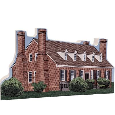 """Beautifully detailed replica of George Washington Birthplace National Monument, Virginia.  Handcrafted in the USA 3/4"""" thick wood by Cat's Meow Village."""