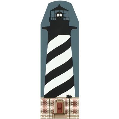 "Vintage Cape Hatteras Lighthouse from Lighthouse Series handcrafted from 3/4"" thick wood by The Cat's Meow Village in the USA"
