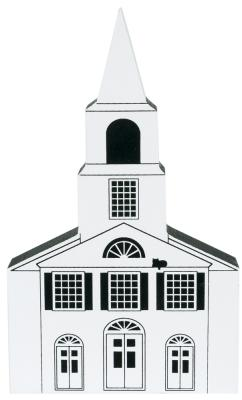 """Vintage Chepachet Union Church from Series IV handcrafted from 3/4"""" thick wood by The Cat's Meow Village in the USA"""