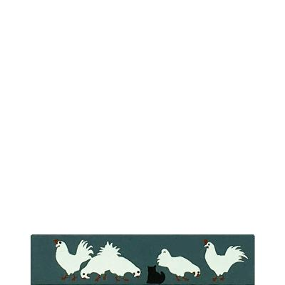 """Vintage Chickens from Accessories handcrafted from 1/2"""" thick wood by The Cat's Meow Village in the USA"""