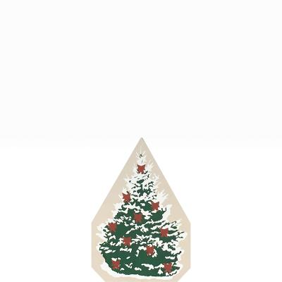 """Vintage Christmas Spruce from Accessories handcrafted from 3/4"""" thick wood by The Cat's Meow Village in the USA"""
