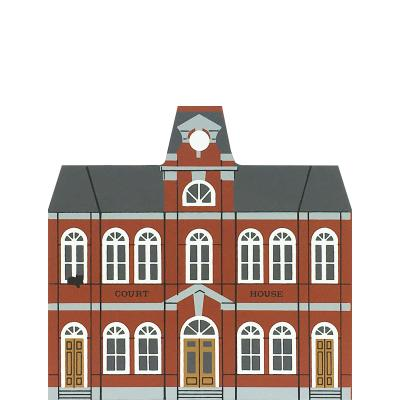 """Vintage County Courthouse from Liberty Street Series handcrafted from 3/4"""" thick wood by The Cat's Meow Village in the USA"""