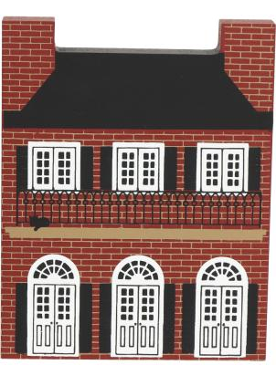 """Vintage Creole House from Series V handcrafted from 3/4"""" thick wood by The Cat's Meow Village in the USA"""
