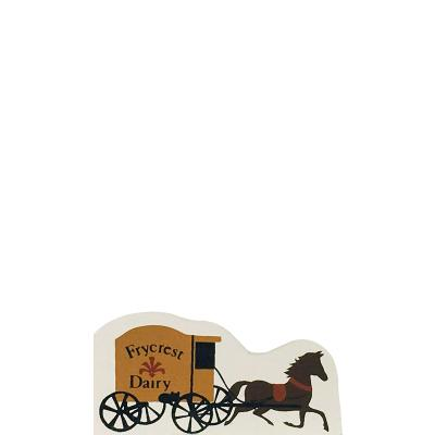 "Vintage Dairy Wagon from Accessories handcrafted from 1/2"" thick wood by The Cat's Meow Village in the USA"