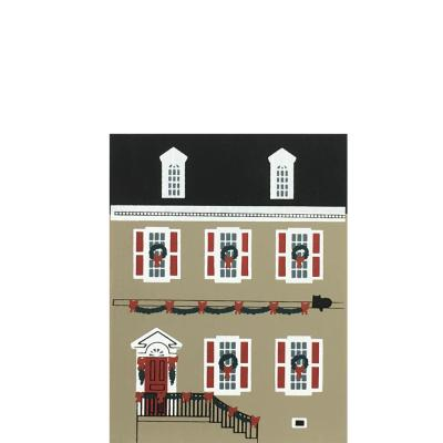 "Vintage Dulany House from Colonial Virginia Christmas Series handcrafted from 3/4"" thick wood by The Cat's Meow Village in the USA"