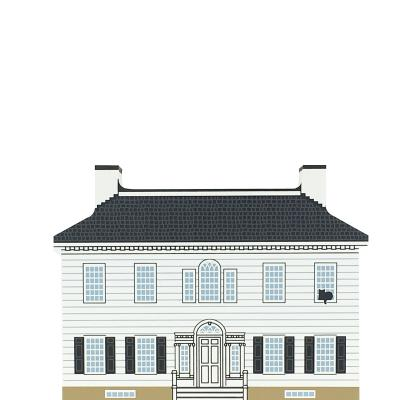 """Vintage Ford Mansion from Series XVII, Revolutionary War Series handcrafted from 3/4"""" thick wood by The Cat's Meow Village in the USA"""