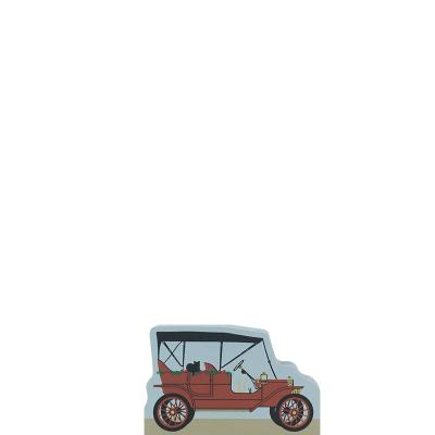 """Vintage 1909 Ford Model T Car from Greenfield Village Christmas Series handcrafted from 3/4"""" thick wood by The Cat's Meow Village in the USA"""