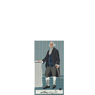 """Vintage George Washington from Presidential Portraits Series handcrafted from 3/4"""" thick wood by The Cat's Meow Village in the USA"""