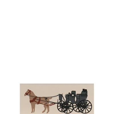 """Vintage Gerstenslager Buggy from Accessories handcrafted from 1/2"""" thick wood by The Cat's Meow Village in the USA"""