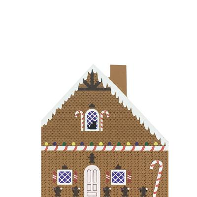 """Vintage Gingerbread House from Fairy Tale Series handcrafted from 3/4"""" thick wood by The Cat's Meow Village in the USA"""