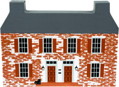 """Vintage John Belville House from Series IV handcrafted from 3/4"""" thick wood by The Cat's Meow Village in the USA"""