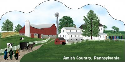 Cat's Meow Amish Country Scene Pennsylvania, Amish Life Collection