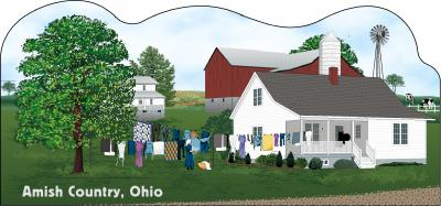 Cat's Meow Amish Wash Day Scene Ohio, Amish Life Collection